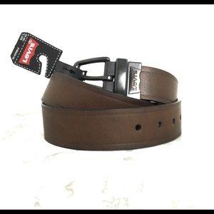 Levi's Brown/Black Reversible Belt Size Large 38-40 NWT